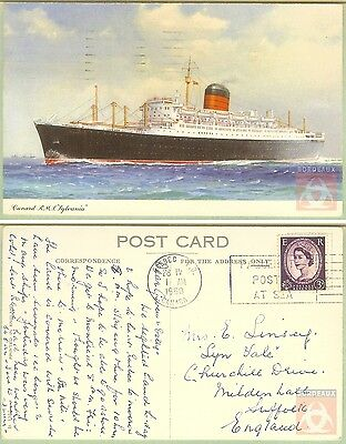 Angleterre - Carte Postale PAQUEBOT - SUEVIC - Posted at Sea 1922 - London FS
