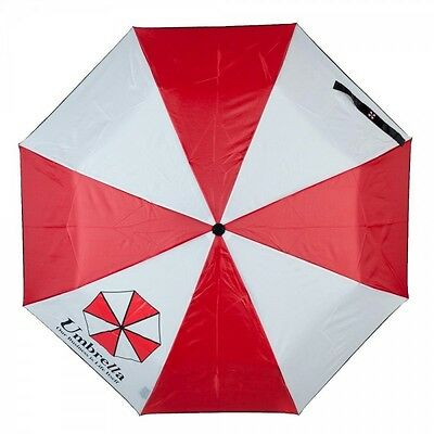 Authentic RESIDENT EVIL Umbrella CORP Logo Red and White Umbrella NEW