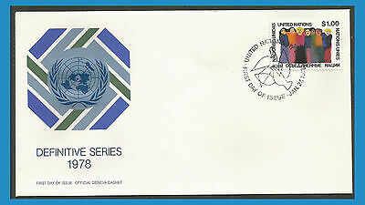 Nations Unies New York 1978 285 FDC Union des peuples