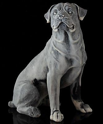 Rottweiler Large Marble Statue Russian Stone Art Figurine Dog Sculpture 7.3""
