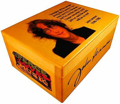 John Lennon, Beatles figure statue, BOX with SIGNED AUTOGRAPHED, Poster, Quote