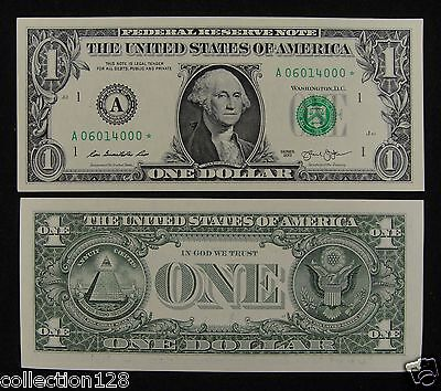 United States STAR NOTE $1 Dollar 2013 BOSTON Uncirculated, A06014000*
