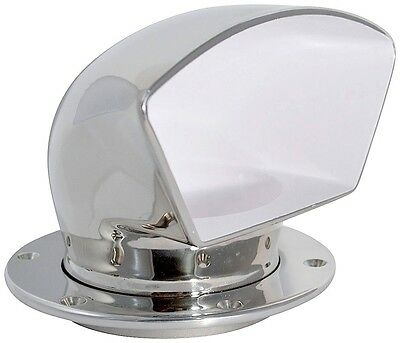 """3"""" Low Profile Cast 316 Stainless Steel Cowl Vent White, Dorade"""