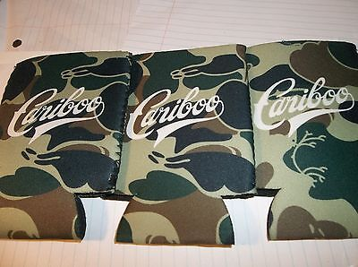 Three Lot Of Cariboo Beer Camo Coozies Keep Your Cans Cold