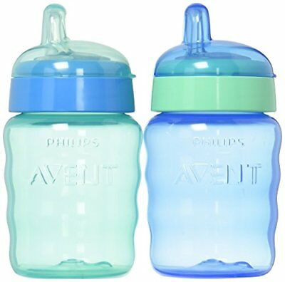 Philips Avent My Easy Sippy Cup, 9 Ounce, Blue/Green, Stage 2 (colors may