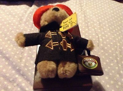 Limited Edition Marmite Spread Paddington Bear Soft Toy Plush Suitcase Detail