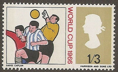 """1966  1/3  WORLD CUP  SG 695pWi  """"INVERTED WATERMARK""""   UNMOUNTED MINT"""