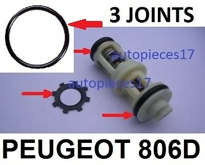 Kit 3 Joints + Clips  Reparation Panne Support Filtre Gasoil Peugeot 806 Diesel