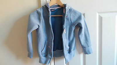 Girls Blue Zip Up Hoodie from Next aged 7 years