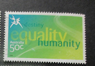 No--15-  --2006 COMMONWEALTH  GAMES  -USED  50c  VALUES  ---A1  ORDER