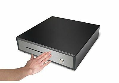 """Heavy Duty 16"""" Black """"Manual"""" """"Push"""" Open Cash Drawer with 5Bill/5Coin"""