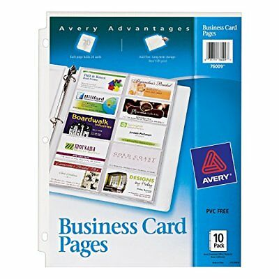Avery Business Card Pages, Pack of 10 (76009)