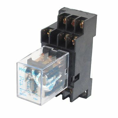 uxcell DC 12V Coil 5A 3PDT General Purpose Power Relay HH53P 11 Pin w Base