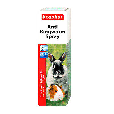 Beaphar Anti- Ringworm-Fungal Skin Infections. Spray for Rabbits, Guinea Pigs, R