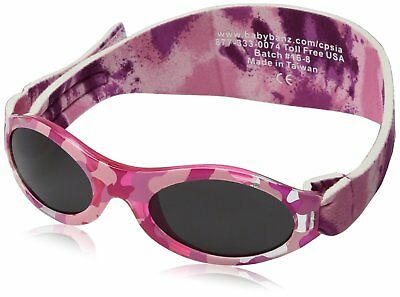Adventure BanZ Baby Sunglasses, Pink Diva Camo, Infants 0 2 Years