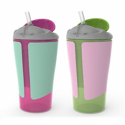 Born Free BPA-Free Grow with Me 10 oz. Straw Cup,2 Count, Girl