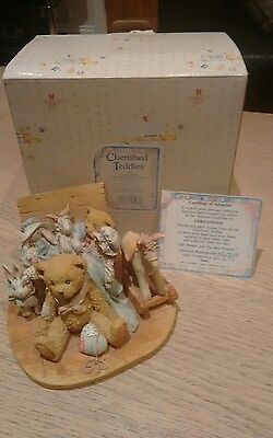 cherrished teddies christopher old friends are the best friends box & certificat