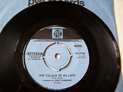 Jefferson - The Colour Of My Love / Look No Further Ex