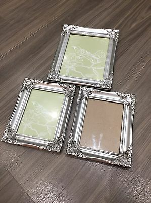 Set Of 3 French Silver Style THE RANGE Picture Frames 8x6 & 10x8