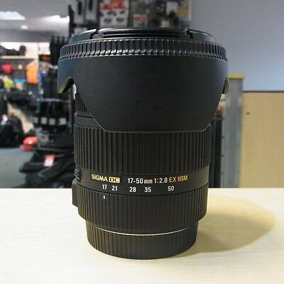 Used Sigma EX 17-50mm f2.8 HSM lens in Canon fit - 1 YEAR GTEE