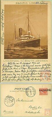 Angleterre - Carte Postale PAQUEBOT - VICTORIA - Posted at Sea 1905 - Lisbonne