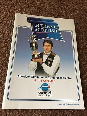 snooker programme Signed By Mark Williams