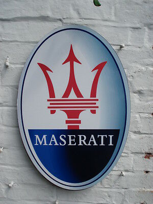 Maserati 2ft garage wall sign