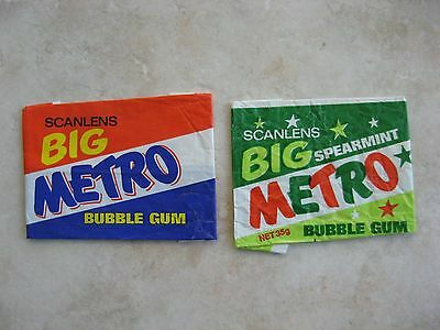 1970's Scanlens Big Metro Bubble Gum Wrappers only