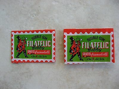1970's deLicia Filatelic Hobby Bubble Gum Wrappers only
