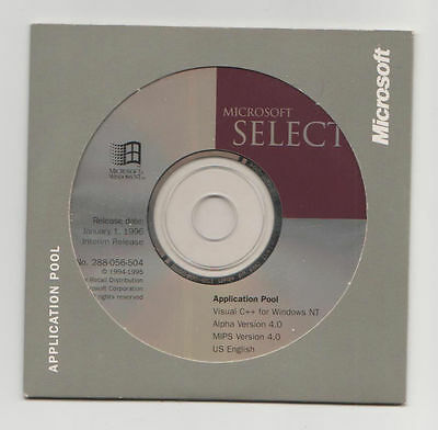 Microsoft Visual C++ Version 4.0 For Windows 95/98 Nt New