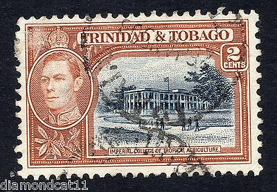 1938 Trinidad & Tobago 2c Blue and Brown SG 247 Fine Used R11096