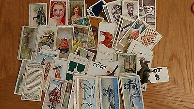 job lot of100 different cards with no tea,trade or hints cigarette cards lot8