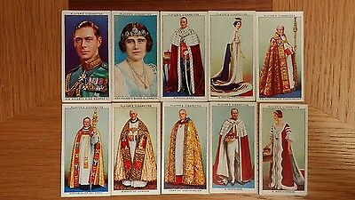 full set of players coronation series ceremonial dress cigarette cards