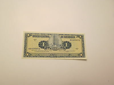 Nicaragua 1 Cordoba Banknote,1968 Uncirculated Condition,Cat#115-A