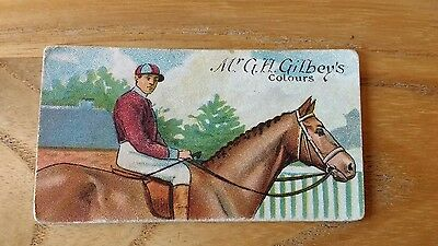 1 card from ansties racing scenes # 8 cigarette cards
