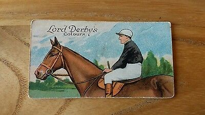 1 card from ansties racing scenes # 7 cigarette cards