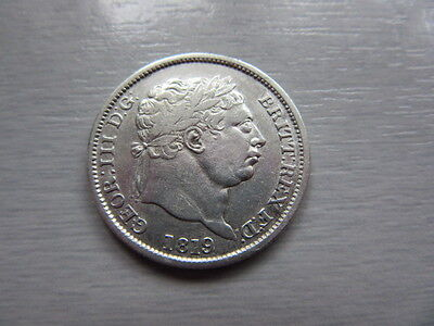 1819 British Silver Coin From George Iii Sixpence