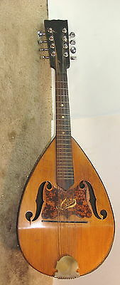 """Waldo"" Bowlback Mandolin Early 1900's Been Repaired"