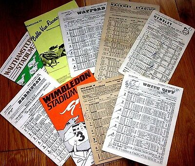 8 Different Tracks Greyhound Racecards INC Southend & Hackney Wick Only 99p Each