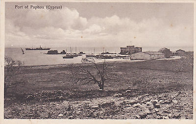 Cyprus Postcard Port Of Paphos Early 1930 S Spyros Haritou Rare Publisher