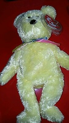 TY Official Beanie Baby Bear 'Sherbet' Collectable