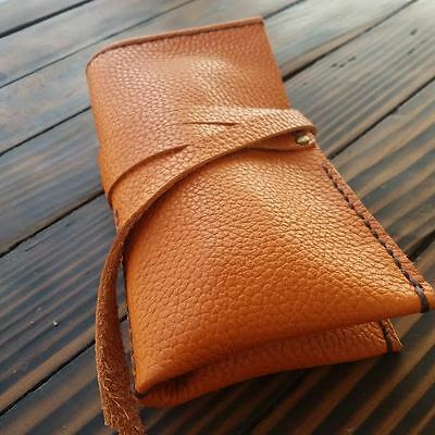 Watch roll, leather watch pouch, travel roll up fit 2 pcs