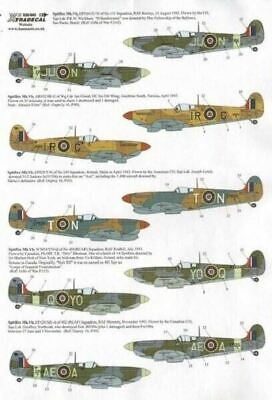 Xtradecal X32042 1/32 Supermarine Spitfire Mk.Vb late Model Decals