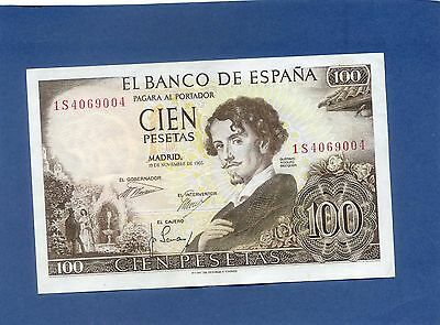Spain Spanish 100 Pesetas Banknote 1965