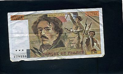 France French 100 Cent Francs Banknote 1985