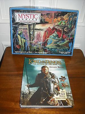 A 1990 USA Mystic Series Two Sided Jigsaw and Lord of the Rings 6 Jigsaw Book