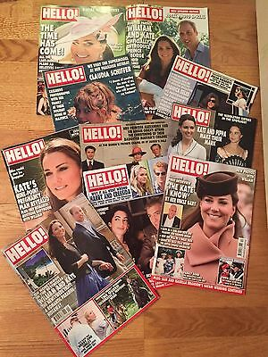 KATE MIDDLETON - DUCHESS CAMBRIDGE & others - Lot of 10 HELLO! MAGAZINES (#1)
