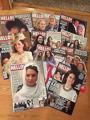 KATE MIDDLETON - DUCHESS CAMBRIDGE & others - Lot of 10 HELLO! MAGAZINES (# 5)