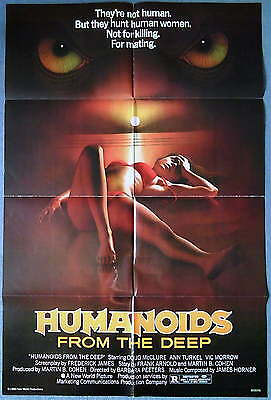 HUMANOIDS FROM THE DEEP (aka MONSTER) US One Sheet Poster 1980 Roger Corman MINT