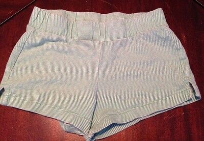 Girls Old Navy Green Striped Shorts, Size 6/7